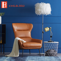 Living Room Chair high back designer relax Leisure PU Leather chair orange armchair