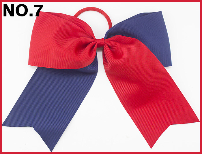 free shipping 50pcs 8 two tone cheerleading hair bows cheer hair clips two color sport hair