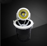Fanlive 5pcs/lot COB LED Gimble Lamp 15W 20W 30W Natural White Trunk Stretchable AC85 265V Gimbal Embedded Spot Light Downlights