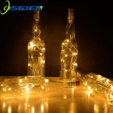 Wine Bottle Lights 2M 20 LEDS  With Cork Built In Battery LED Shape Silver Copper Wire Colorful Fairy Mini String