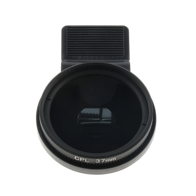 1 Set Ultra Slim CPL Circular Polarizing Polarizer Lens Filter 37mm & Clip Maintain Rotation Anti-Reflection For 37mm Phone Lens