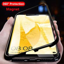 Hot 360 Magnetic Adsorption Case for Huawei Nova 3 3i 2i P30 P20 Lite Magnet Tempered Glass Cover for Mate 10 20 Pro 20X Shell(China)