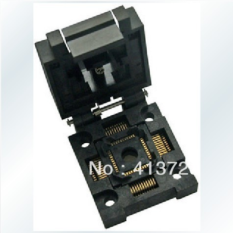 Valley test socket adapter TQFP44/QFP44 burn FPQ-44-0.8-19 modules original brand new enplas qfp44 fpq 44 0 8 19 enplas ic test burn in socket block adapter 0 8mm pitch tqfp44 fqfp44 pqfp