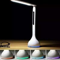 1Pcs Led Desk Light Rechargeable Colorful Led Eye Learning Student Desk Reading Portable Portable Folding Alarm