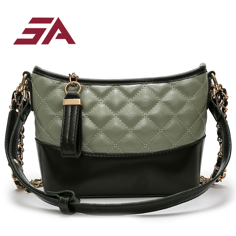 SA Luxury shoulder bags for women brand designer plaid flap bag lady hit color diamond lattice women chain crossbody bag vs pink