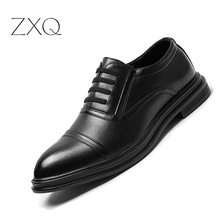 New High Quality Microfiber Leather Men Classic Black Shoes Lace-Up Business Dress Men Oxfords Shoes Male Formal Shoe