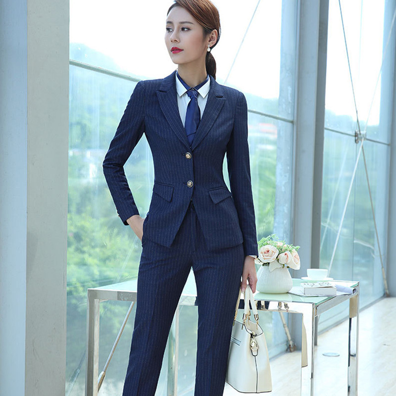 Dutiful Fashion New Womens Womens Suit Two-piece Suit jacket + Pants Ladies Office Business Formal Suit Casual Womens Clothing To Be Distributed All Over The World