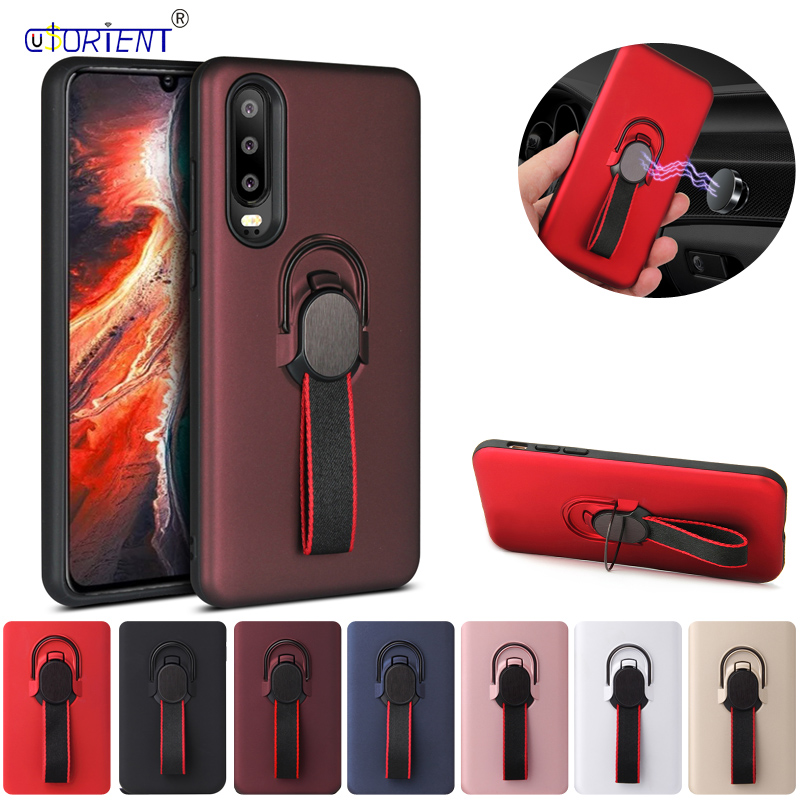 Huawei P30 Shockproof Ring Phone Cover for P30 ELE-L09 ELE-L29 2 in 1 Hybrid Invisible Stand Case ELE L09 L29 Hybrid Armor Coque