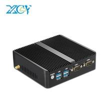 XCY Мини-ПК Окна 10 Celeron 3205U 3215U 3755U Pentium 3805U 2 LAN 2 com неттоп Micro настольных ПК HTPC HDMI VGA Wi-Fi