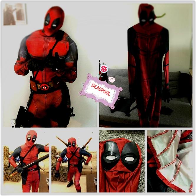 (DP910) Hot Marvel Halloween Cosplay Full Body Deadpool Costume Adult Digital Print Lycra Costume