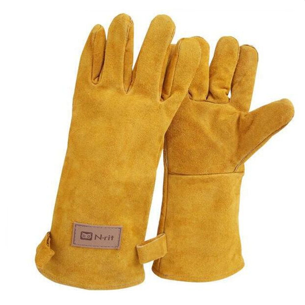 все цены на Double Layer Thickened Leather Handling Maintenance Safety gloves онлайн