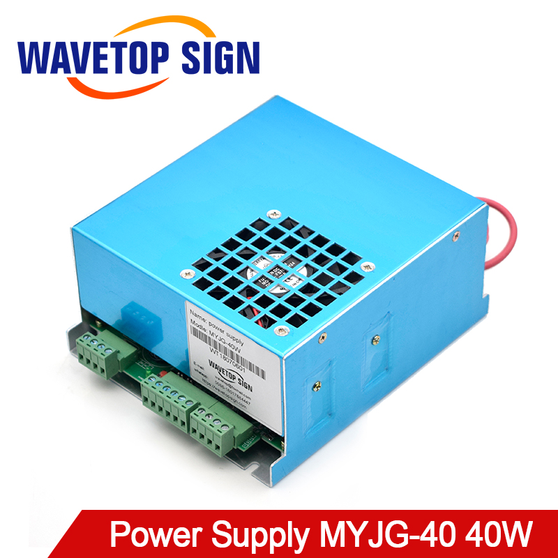 WaveTopSign MYJG-40 CO2 Laser Power Supply 40W 110V/220V For CO2 Laser Tube High Voltage Engraving Cutting Machine