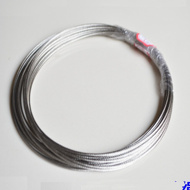 7X19 Strand 6mm Diameter High Tensile AISI 304 Stainless Steel Wire Rope Cable 3mm 7 7 stainless steel 316 wire rope 7x7 strand core seaworthy marine grade