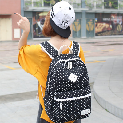 Women Backpack Preppy Style Female College Students Back Pack Large Capacity Cute Cat Pattern Printing Girls Knapsack