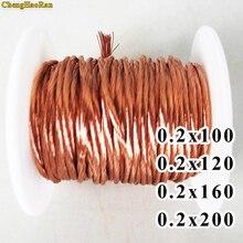 ChengHaoRan 1 m 0.2x100 0.2x120 0.2x160 0.2x200 Aandelen Litz draad gestrand geëmailleerd koperdraad/gevlochten multi strand draad