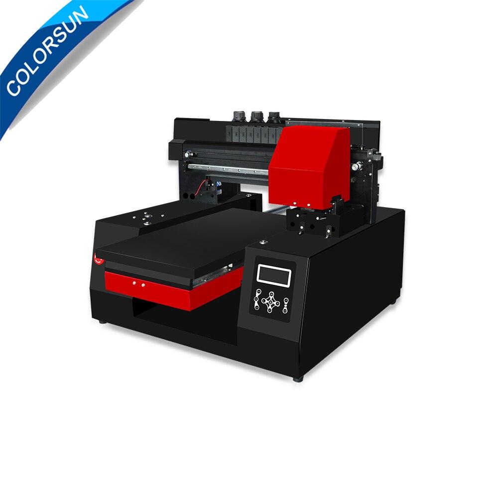Colorsun 2019 impresora automática DTG tamaño A3 impresión camiseta Textiles para Epson DX9 * 2 300*600mm con bandeja de camiseta 3060 impresora DTG