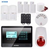 DIYSECUR 433MHz Wireless&Wired GSM Home Alarm System, Touch Panel, Flash Sensor, SMS Alerts, Smoke Sensor