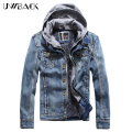 2017 New Retro Denim jackets Mens Jeans Coats Cashmere Winter Jackets Brand Hooded Denim Coat Men Outwear Male Asian Size,SEA098