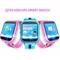 Q750 kid smart watch monitor de wifi gps lbs relógio localizador 1.54 Polegada da Tela de Toque do telefone SOS Seguro Anti-Perdidos Crianças Cedo aprendizagem