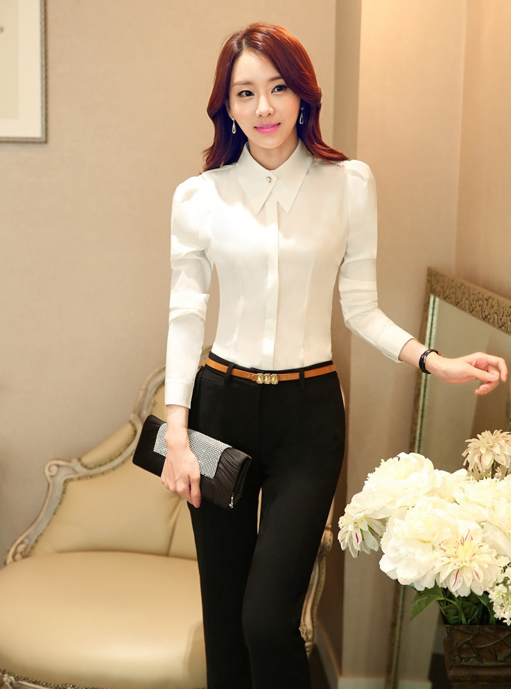 2015 spring autumn formal pantsuits for ladies office for Office uniform design 2015