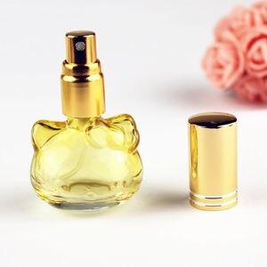 Image 5 - 1 pc 10 ミリリットルカラフルなガラスの香水瓶スプレー詰め替えアトマイザー香りボトル包装ボトル 5 色