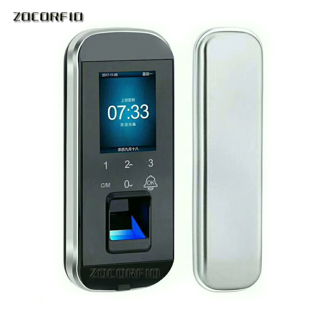 Glass Door Lock Office Keyless Electric Fingerprint Lock With Touch Keypad Smart Card Remote Control Key Door Lock glass door lock acces control door lock with remote control security door lock in stock fast delivery
