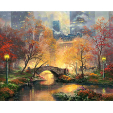 city park diamond Embroidery diy painting mosaic diamant 3d cross stitch pictures H712