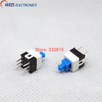 500PCS 7*7mm push botton switch self-locking tactile switches for multimeter 7x7mm ON/OFF 6PIN Free shipping