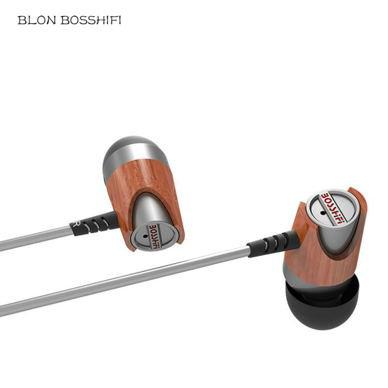 BLON BOSSHIFI B3s Wooden In-ear Dynamic Earphone Headset hifi Bass Music Stereo Audio Headphones High Quality Earset For Iphone