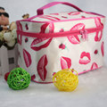 Portable Printed Dot Cosmetic Makeup Make up Bag Box Storage Organizer Handbag Travel Kit Toiletry Bag For Travel On the go