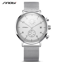 SINOBI 2017 herrklockor Topp märke Luxury Business Quartz Watch Luminous Pointer Men Sport Vattentät Klocka Relogio Masculino