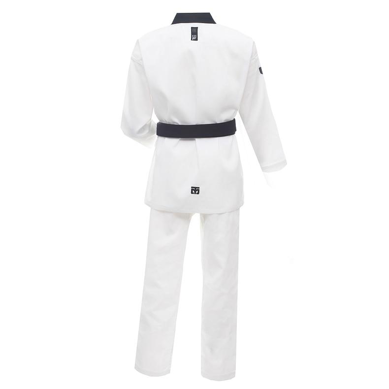 New Taekwondo Uniform TKD Student Dobok Set Taekwond Gi Uniform-BLACK V-neck