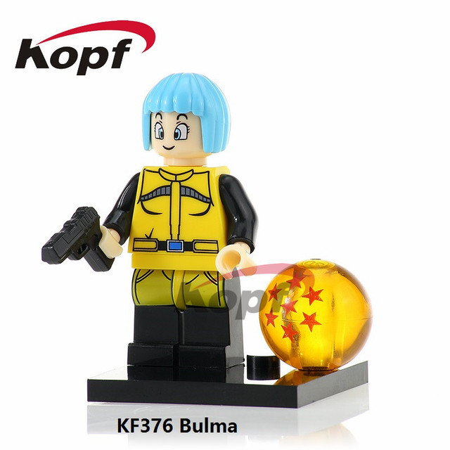 Building Blocks Single Sale Bulma Dragon Ball Z Figures Majin Buu Prefect  Cell Goku Vegeta Bardock fe893620922a