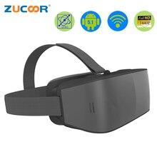 Все в одном VR 3D Очки виртуальной реальности T08 Android шлем игра фильм бокс Wi-Fi Bluetooth 2560*1440 пикселей с геймпад