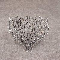 Luxury Wedding Crown Alloy Bridal Tiara Baroque beauty Queen Crown water drop tiara Fashion show crown Miss world headband