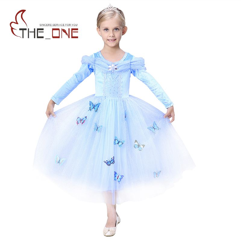 Cinderella Princess Character Dress Child 3t 4t 5 6 7: Girls Cinderella Princess Party Dresses Children 5 Layers