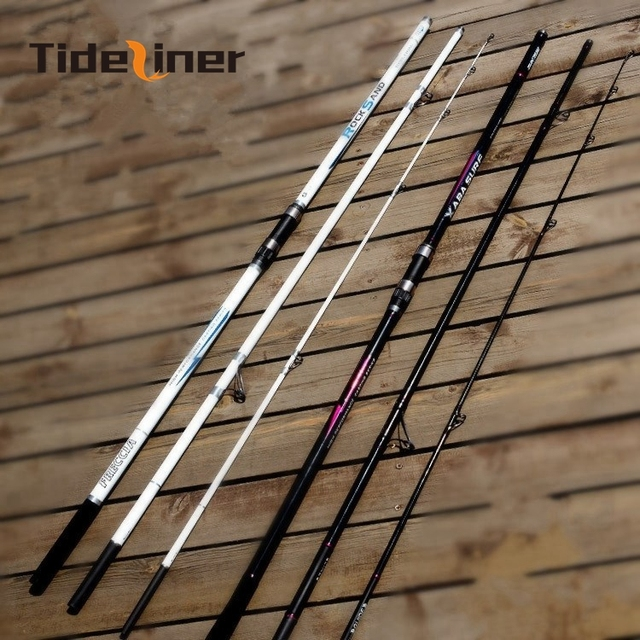 4.2m spinning surf casting rock fishing rod Distance Throwing surfcasting carbon fiber Fishing Rods pole Color white black