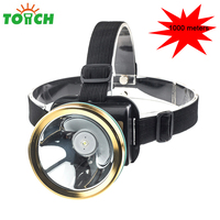 Cree Q5 LED Frontal Headlamp Headlight Head Flashlight 1000 Meter Rechargeable Head Lamp Torch Built In