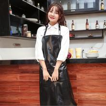 2017 Waterproof Pure Black PVC Aprons Halterneck Hotel Car Wash Kitchen Apron Household Cleaning Tools And Accessories Delantal