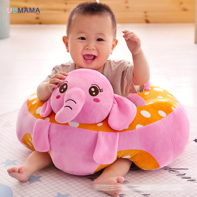 Cartoon Animal Baby Support Seat Sofa Baby Learning To Sit Chair  Comfortable Travel Car Seat Pillow