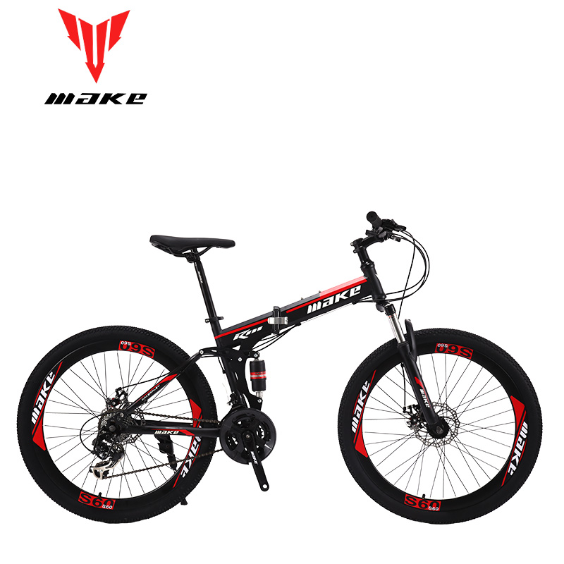 Make Steel Folding Frame, Mountain Bike 26 Wheel, 24 Speed SHIMANO MTB