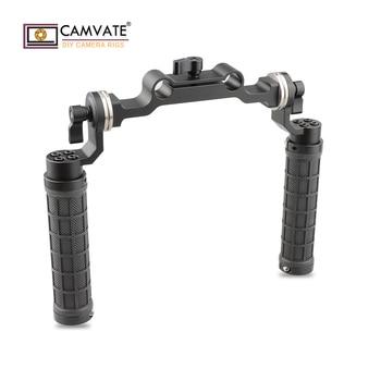 CAMVATE Rosette Handgrips & 15mm Rod Clamp Railblock with Rosette for DSLR C1548 camera photography accessories
