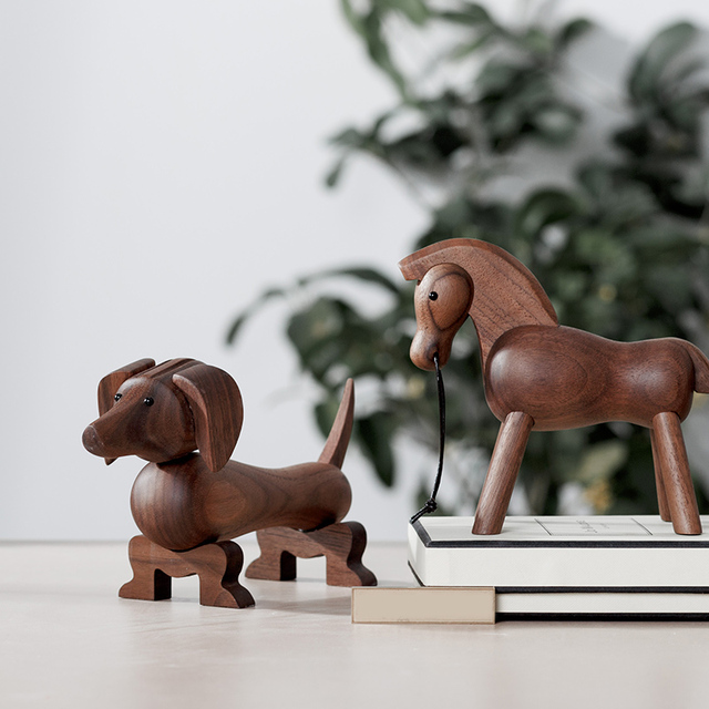 home decoration accessories walnut wood horse decoracao para casa decor decoracion hogar moderno  maison vintage decor figurine 3