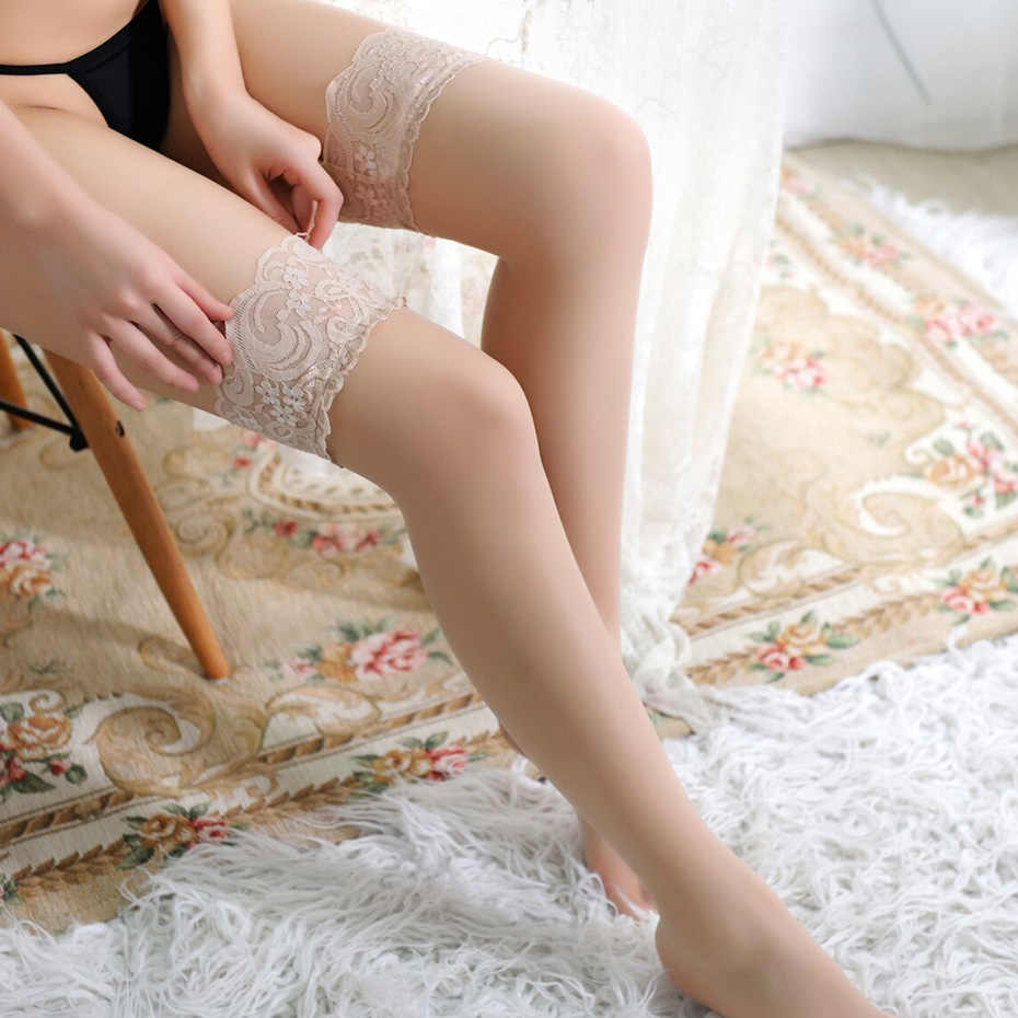 aa0451bcd ... 1Pair Sexy Stocking Fashion Ladies Women Lace Tighs Top Stay Up Thigh  High Stockings Pantyhose Sex ...