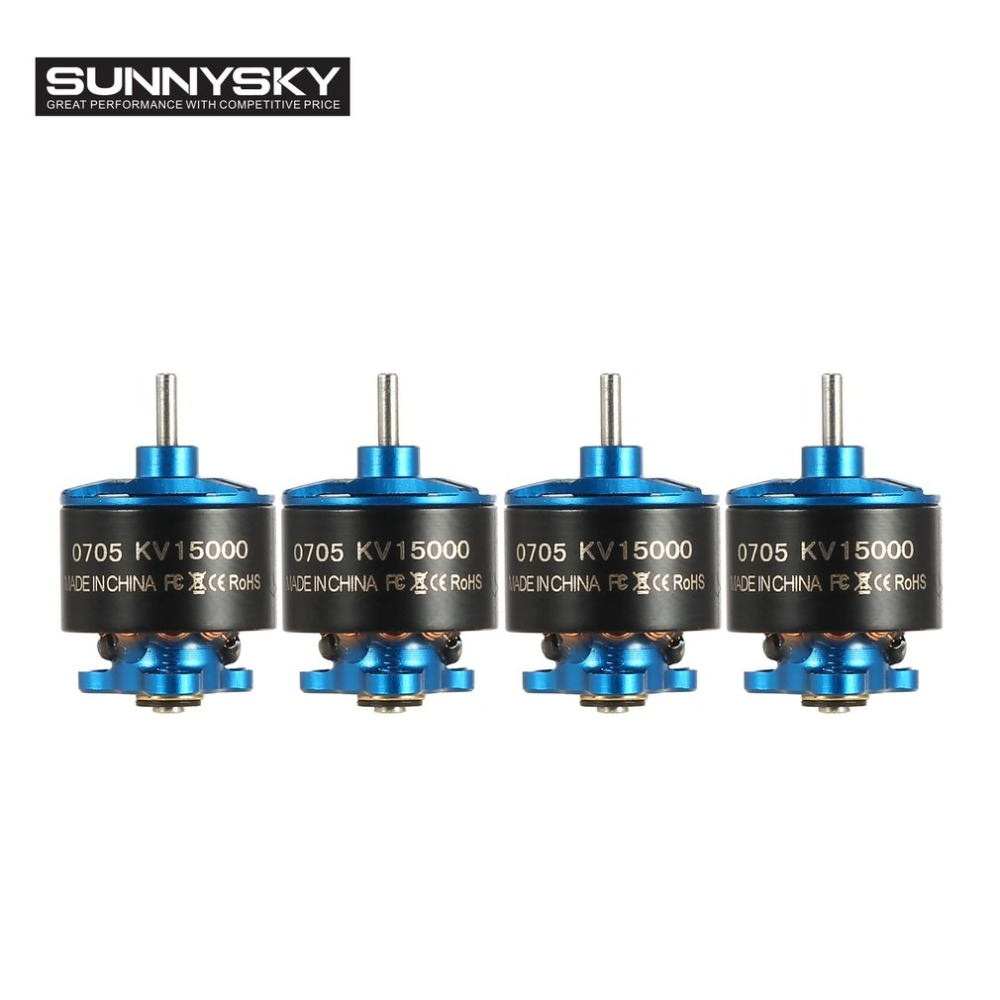 4pcs SUNNYSKY 0705 15000KV Min Brushless Motor RC Part for 60 70 80 90mm Micro RC Racing Drone Aircraft Multicopter extra power board for walkera f210 multicopter rc drone