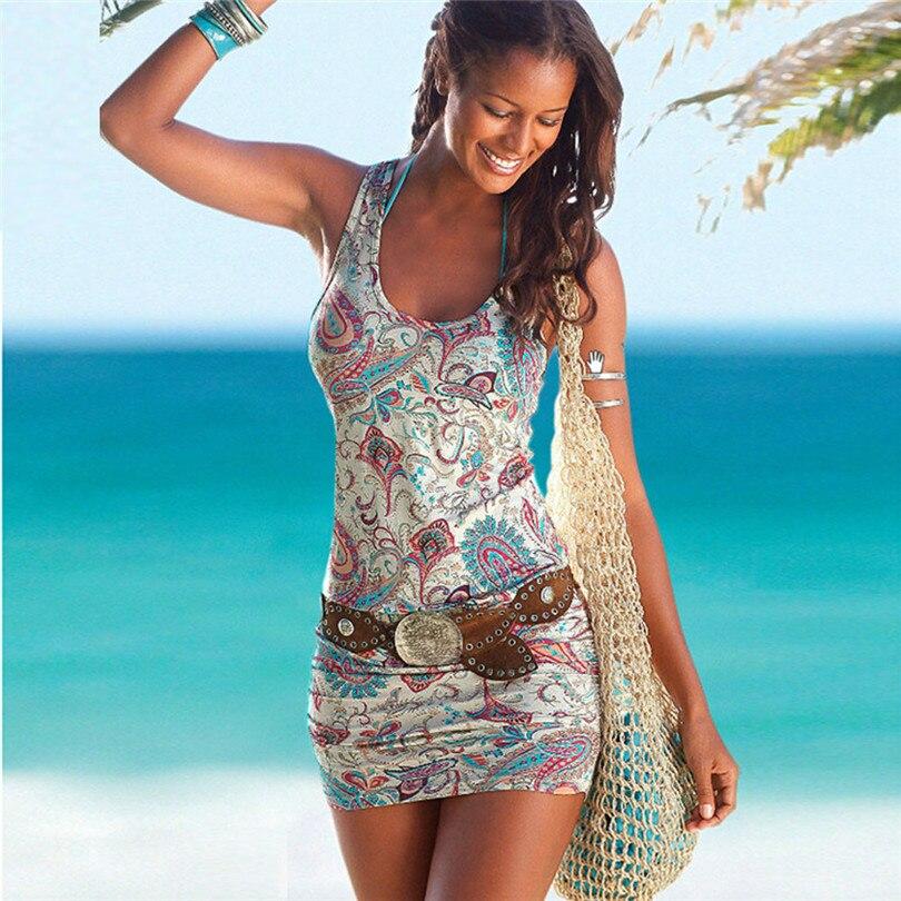 Durable mujeres vestido de verano vestido Atractivo de Las Mujeres Del Verano Si