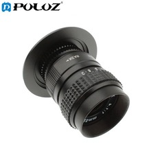 PULUZ S-DAL-0009 25mm 1:1.4 C-M4/3 Camera Mount CCTV TV Lens with Stepping Ring