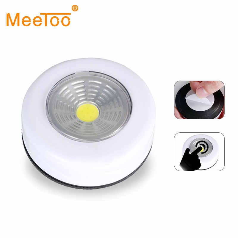 COB светодиодный под шкаф свет с клейкой наклейкой беспроводной настенный светильник шкаф ящик шкаф спальня кухня ночник