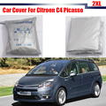 El Envío Gratuito! Cubierta del coche Al Aire Libre Anti UV Dom Lluvia Nieve Cubierta Resistente Para Citroen C4 Picasso