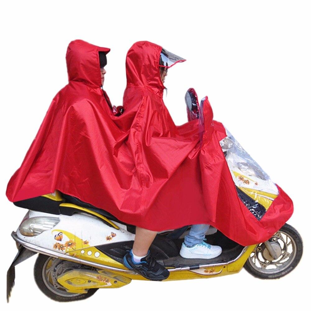 5 couleur vélo Jacquard moto Double-personne imperméable Poncho manteau adulte à capuche imperméable imperméable à l'eau imperméable à la pluie manteau nouveau